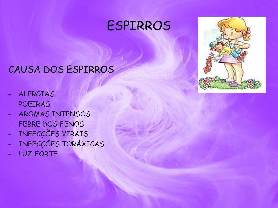ESPIRROS CAUSA DOS ESPIRROS ALERGIAS POEIRAS AROMAS INTENSOS