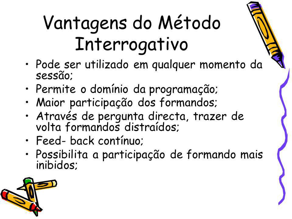 Vantagens do Método Interrogativo