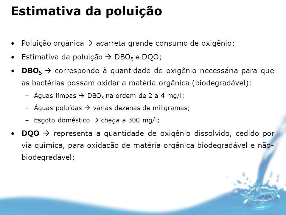 Estimativa da poluição