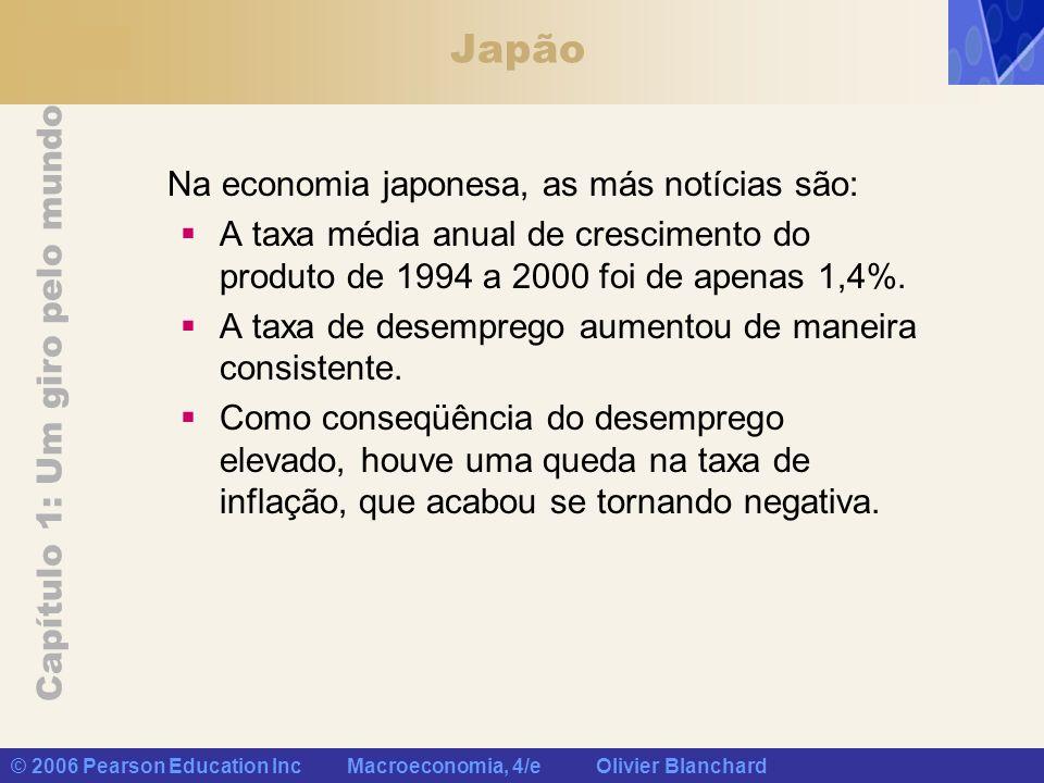 Japão Na economia japonesa, as más notícias são: