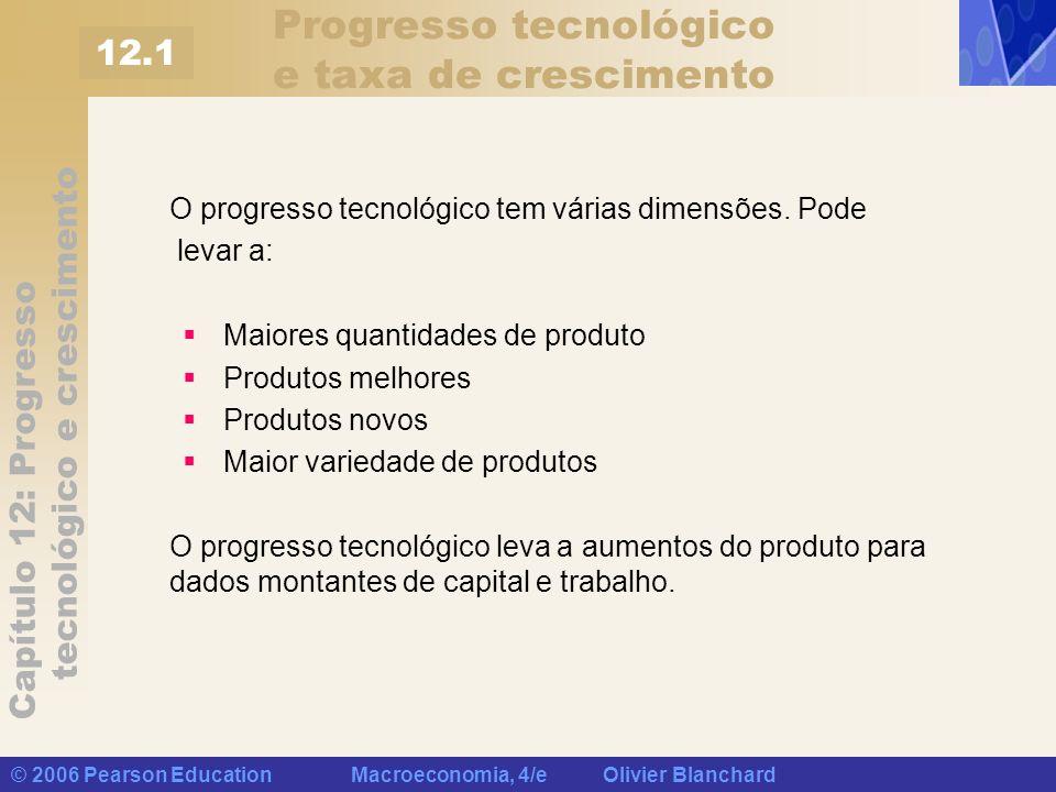Progresso tecnológico e taxa de crescimento
