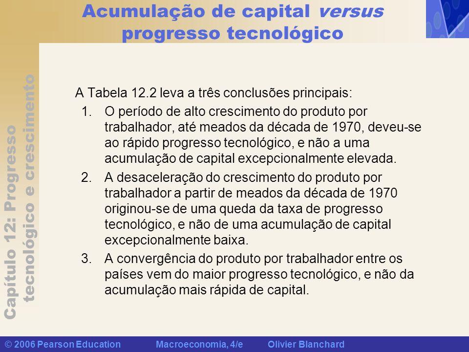 Acumulação de capital versus progresso tecnológico