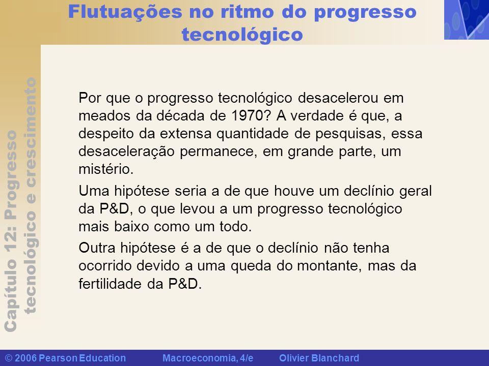 Flutuações no ritmo do progresso tecnológico