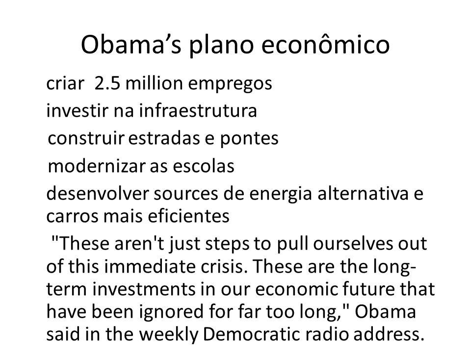 Obama's plano econômico