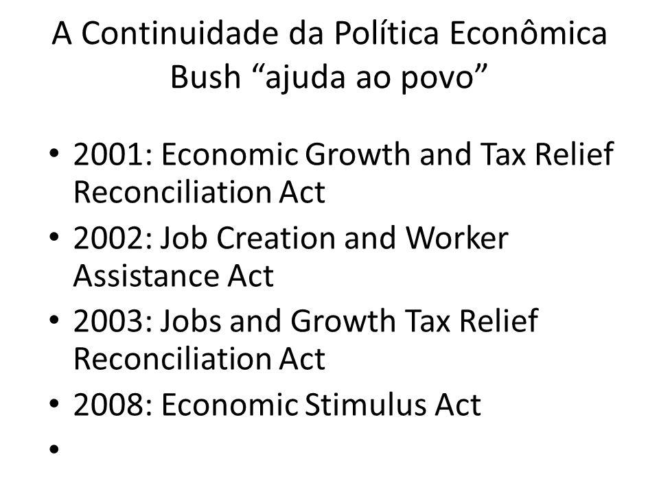 A Continuidade da Política Econômica Bush ajuda ao povo