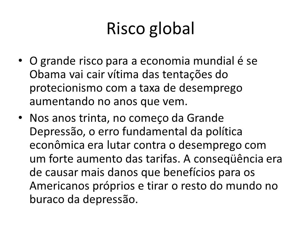 Risco global