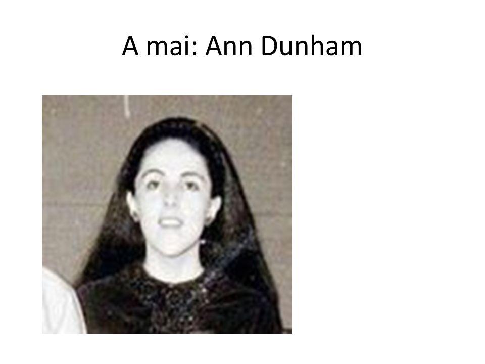 A mai: Ann Dunham