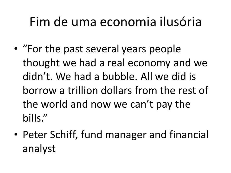 Fim de uma economia ilusória