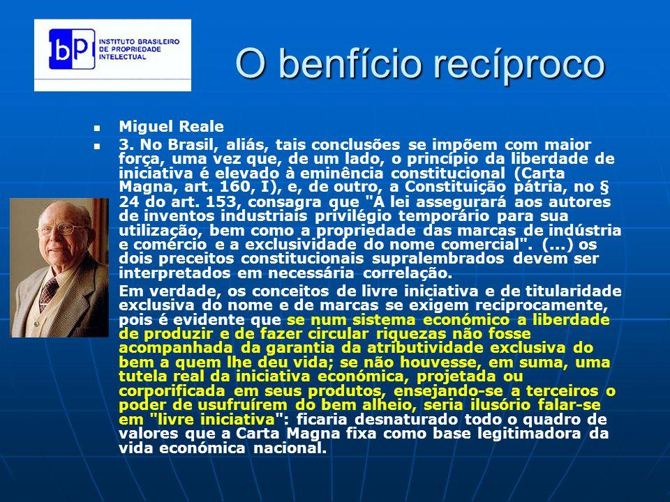 O benfício recíproco Miguel Reale