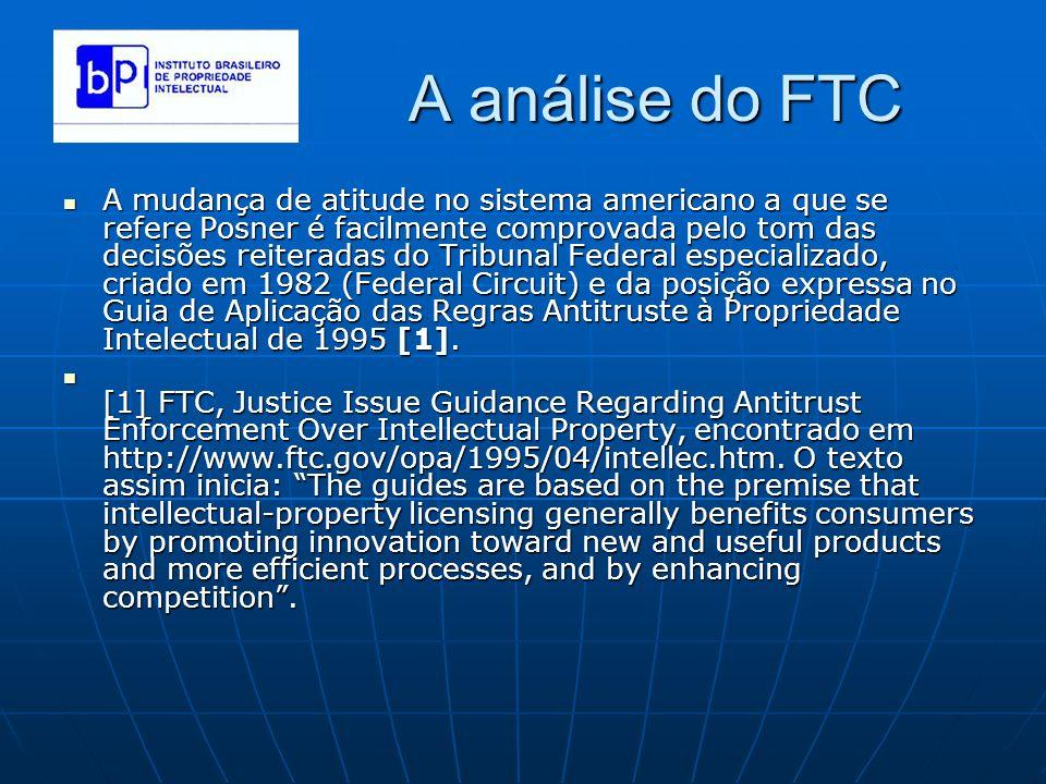 A análise do FTC