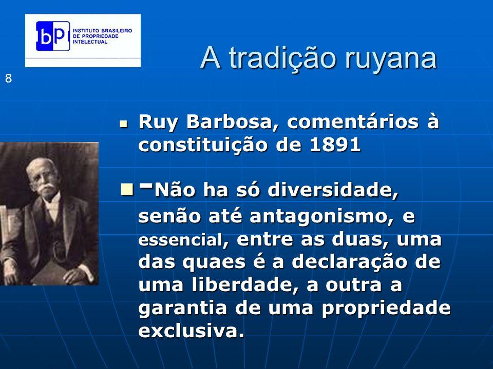 A tradição ruyana Ruy Barbosa, comentários à constituição de 1891.