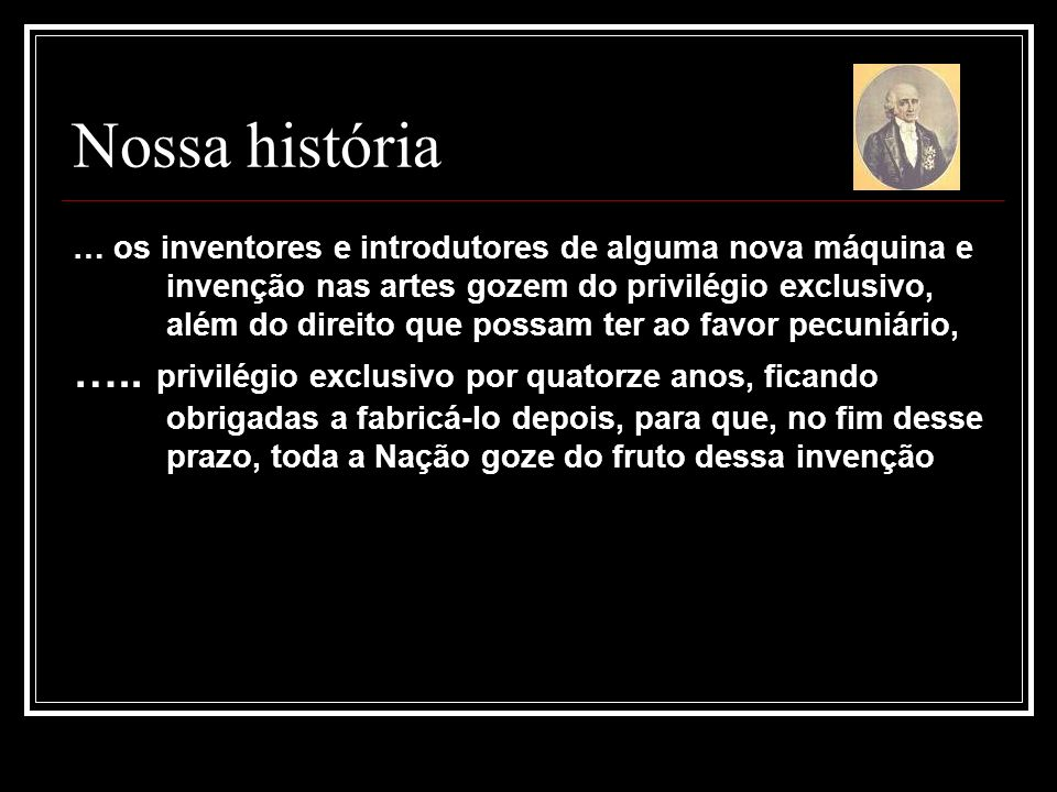 Nossa história