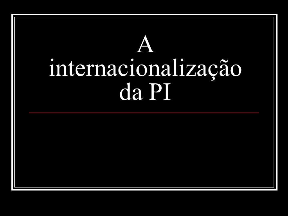 A internacionalização da PI