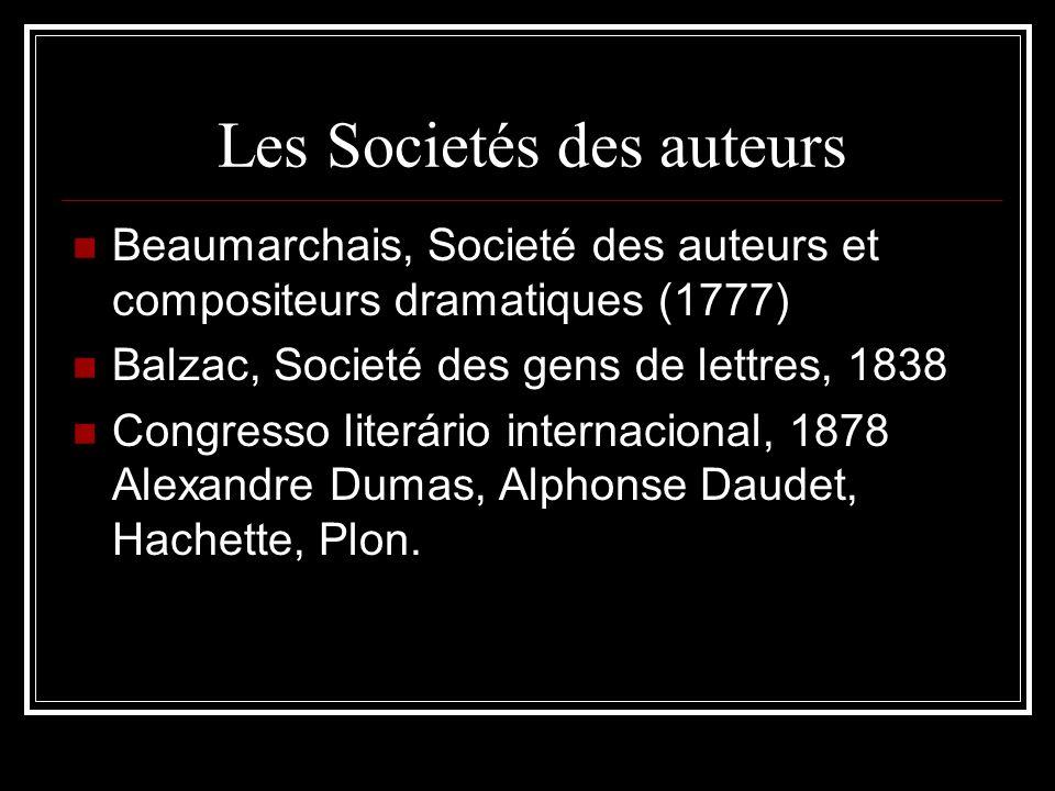 Les Societés des auteurs