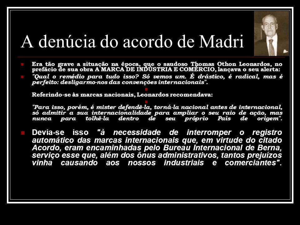 A denúcia do acordo de Madri