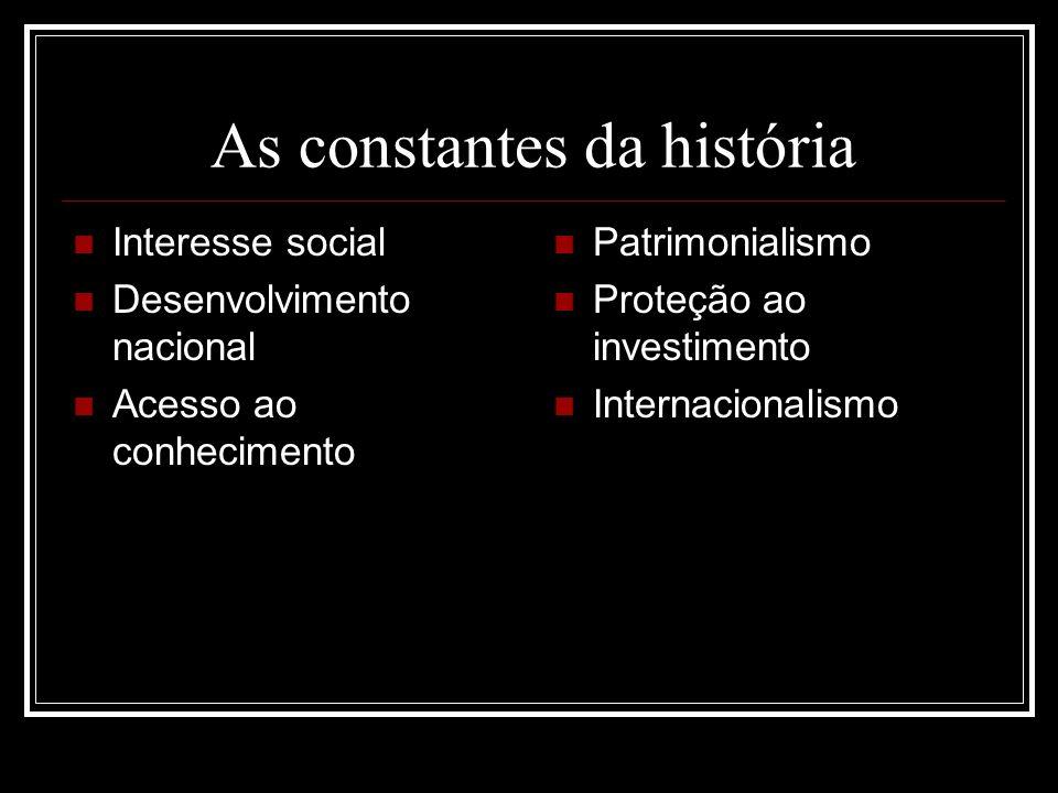 As constantes da história