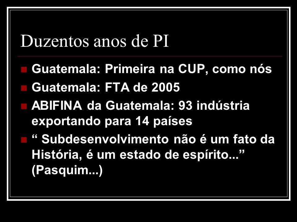 Duzentos anos de PI Guatemala: Primeira na CUP, como nós