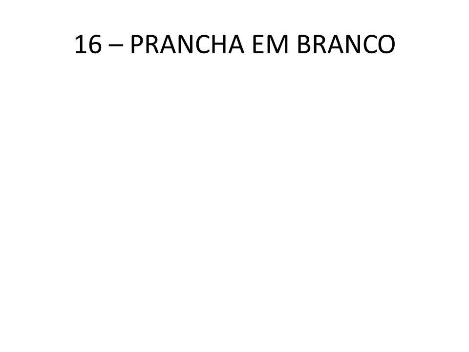 16 – PRANCHA EM BRANCO