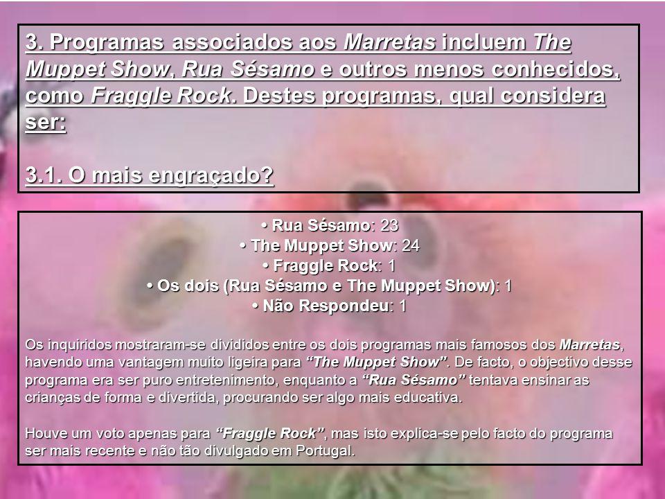 • Os dois (Rua Sésamo e The Muppet Show): 1
