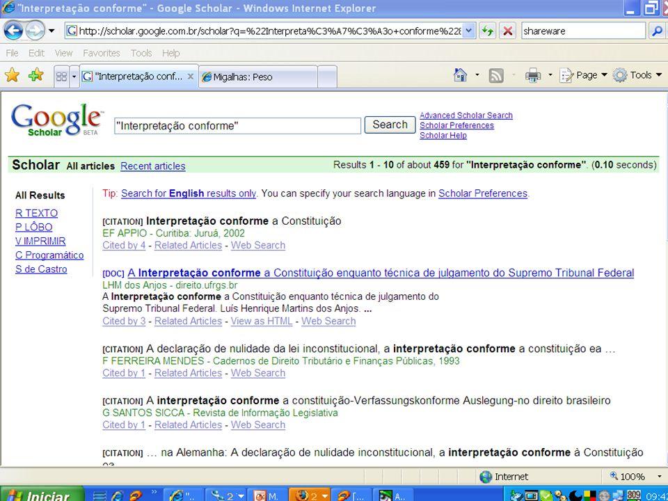 Pesquisa prospectiva Fontes livres http://scholar.google.com/