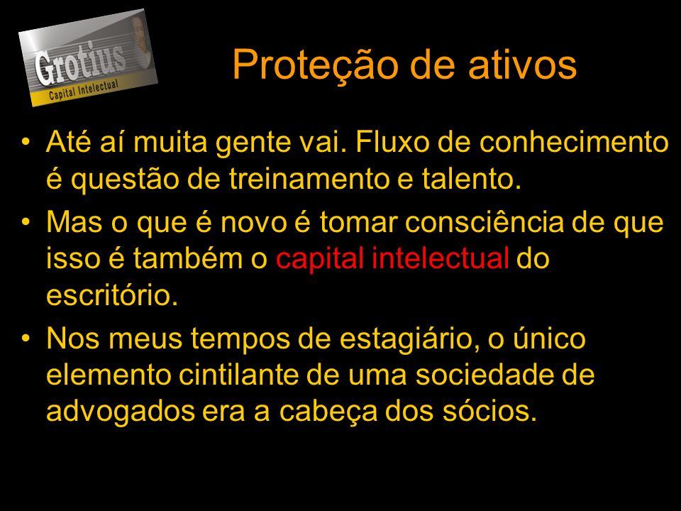 Proteção de ativosAté aí muita gente vai. Fluxo de conhecimento é questão de treinamento e talento.