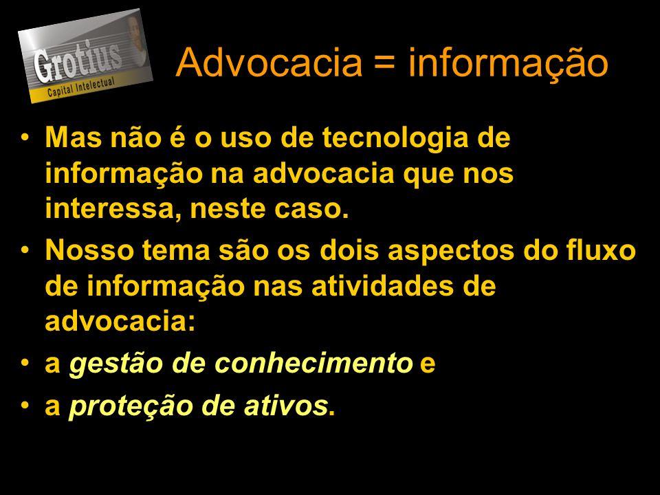 Advocacia = informação