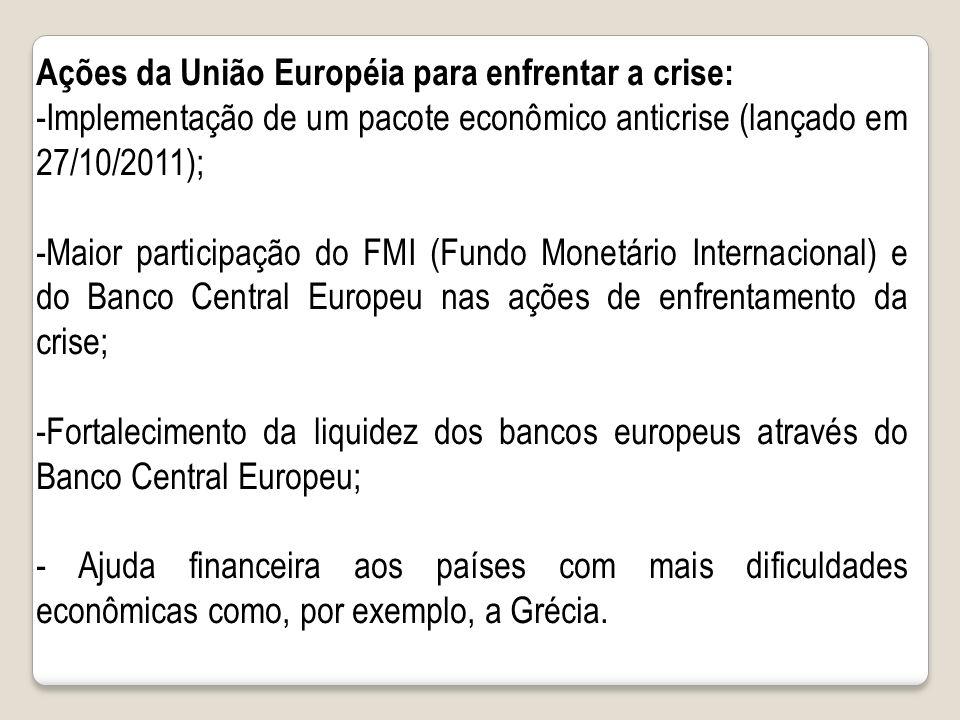Ações da União Européia para enfrentar a crise: