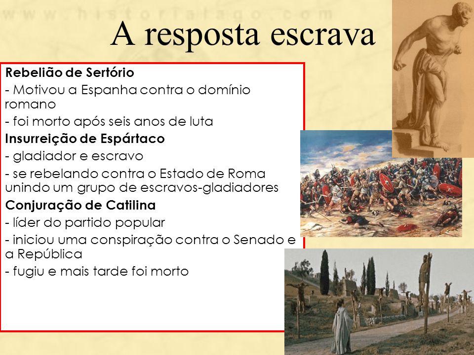 A resposta escrava Rebelião de Sertório