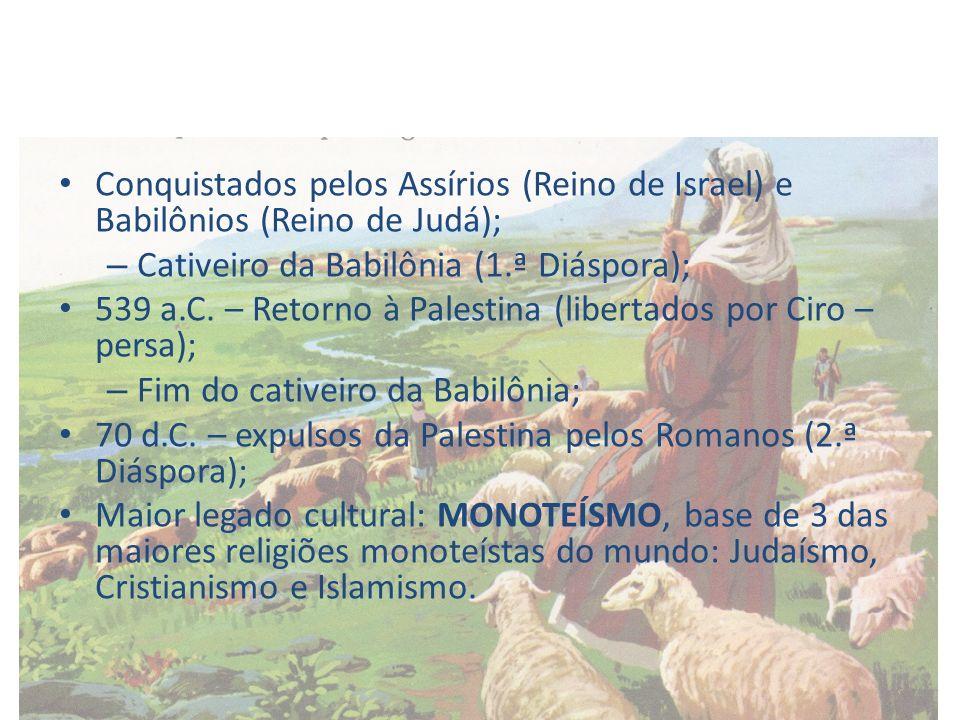 Conquistados pelos Assírios (Reino de Israel) e Babilônios (Reino de Judá);