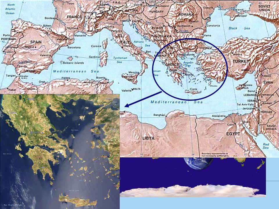 LOCALIZAÇÃO Concentrou-se ao sul da Península Balcânica, nas ilhas do Mar Egeu e no litoral da Ásia Menor.