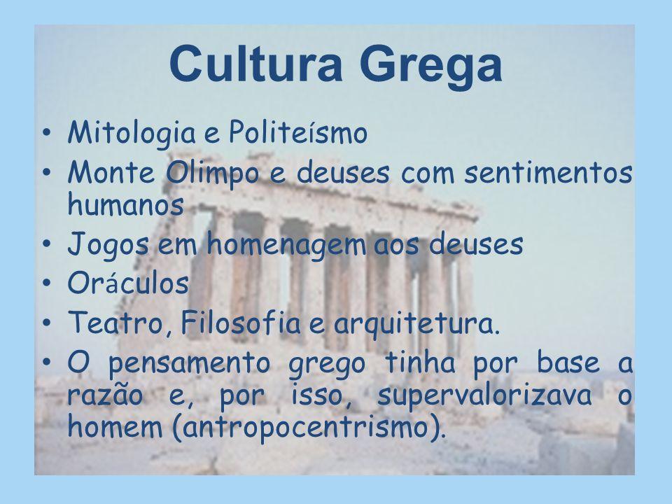Cultura Grega Mitologia e Politeísmo