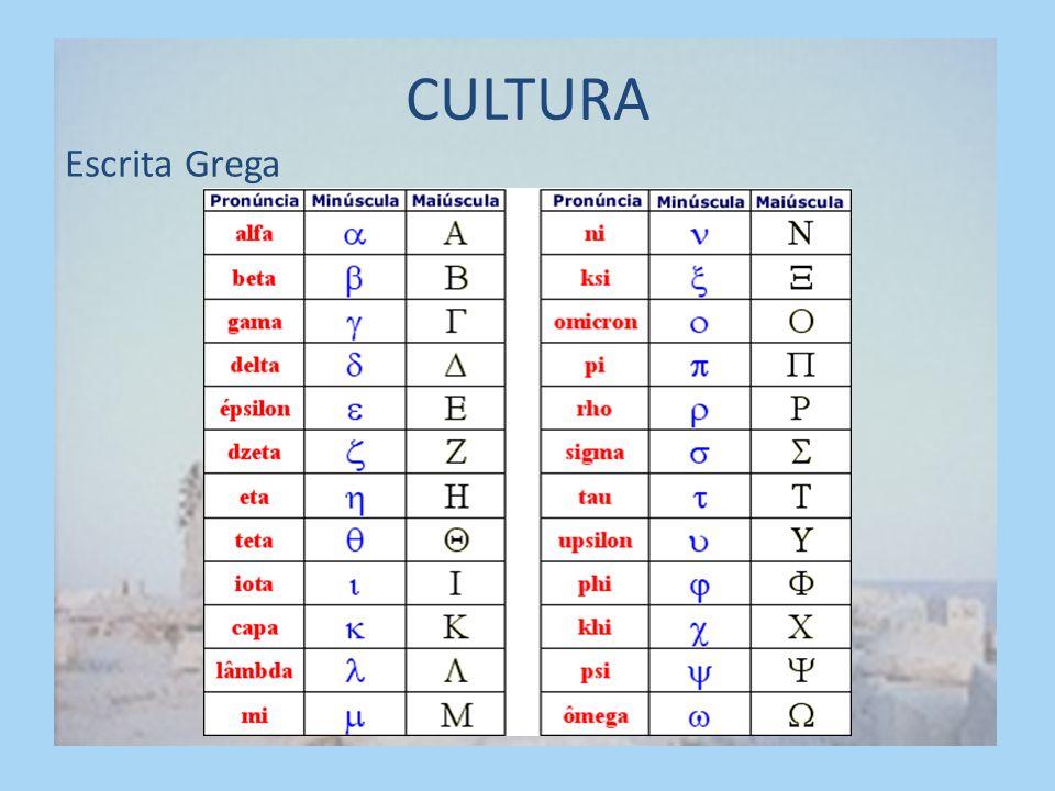 CULTURA Escrita Grega