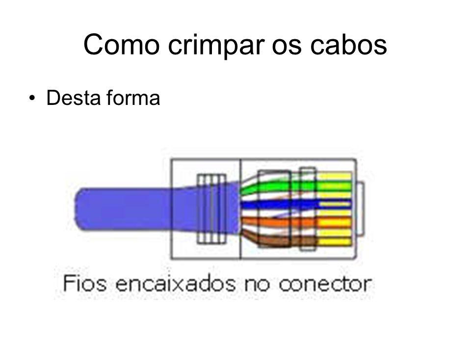 Como crimpar os cabos Desta forma