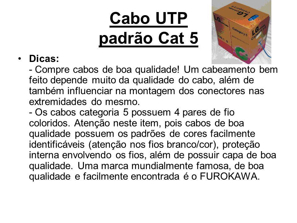 Cabo UTP padrão Cat 5