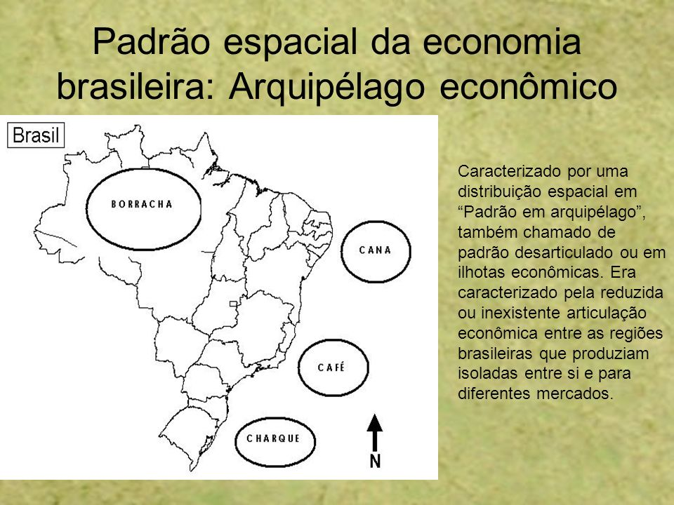Padrão espacial da economia brasileira: Arquipélago econômico