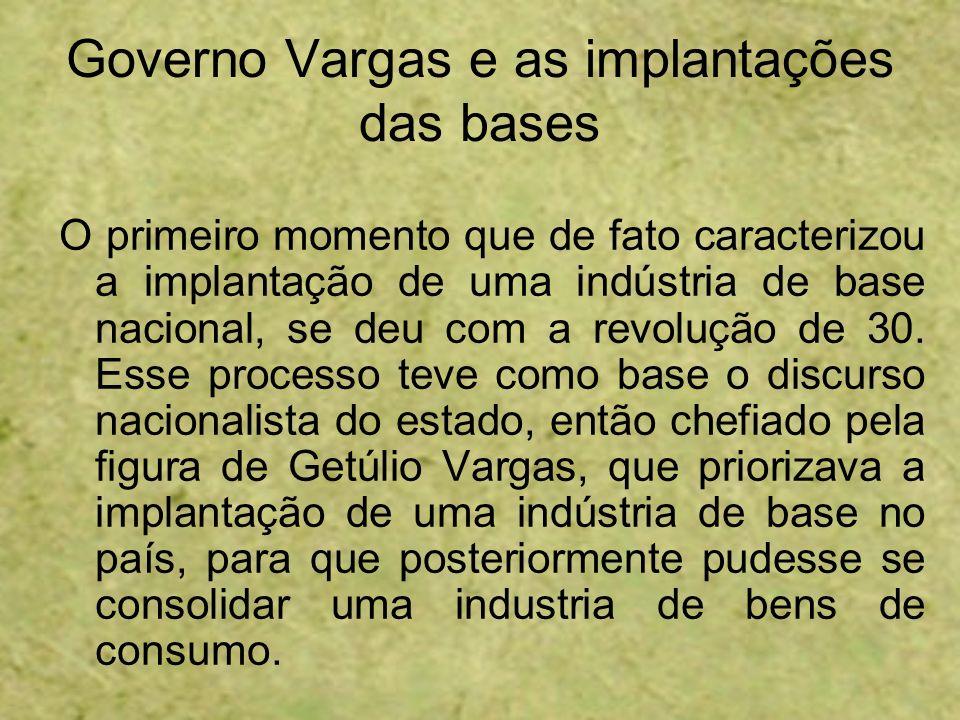 Governo Vargas e as implantações das bases