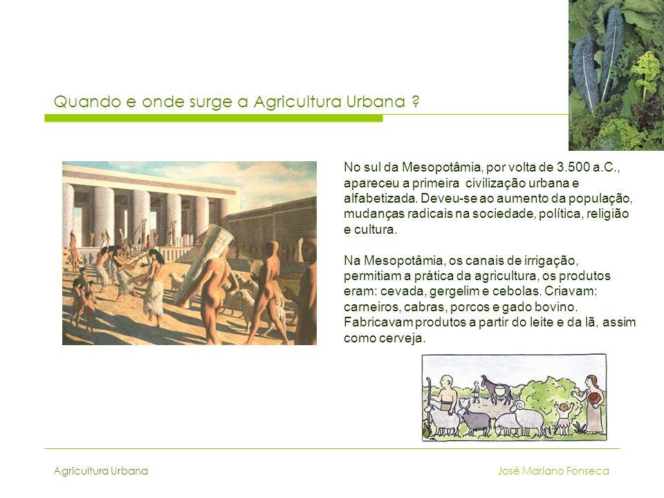 Quando e onde surge a Agricultura Urbana