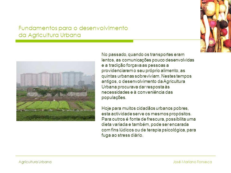 Fundamentos para o desenvolvimento da Agricultura Urbana