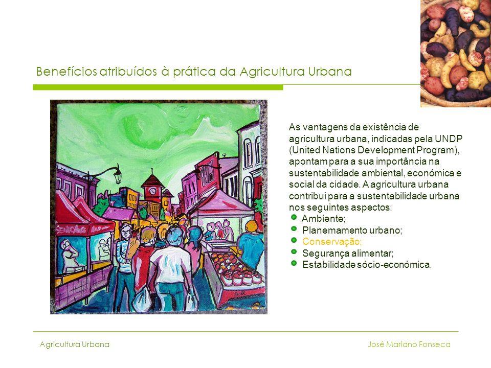 Benefícios atribuídos à prática da Agricultura Urbana