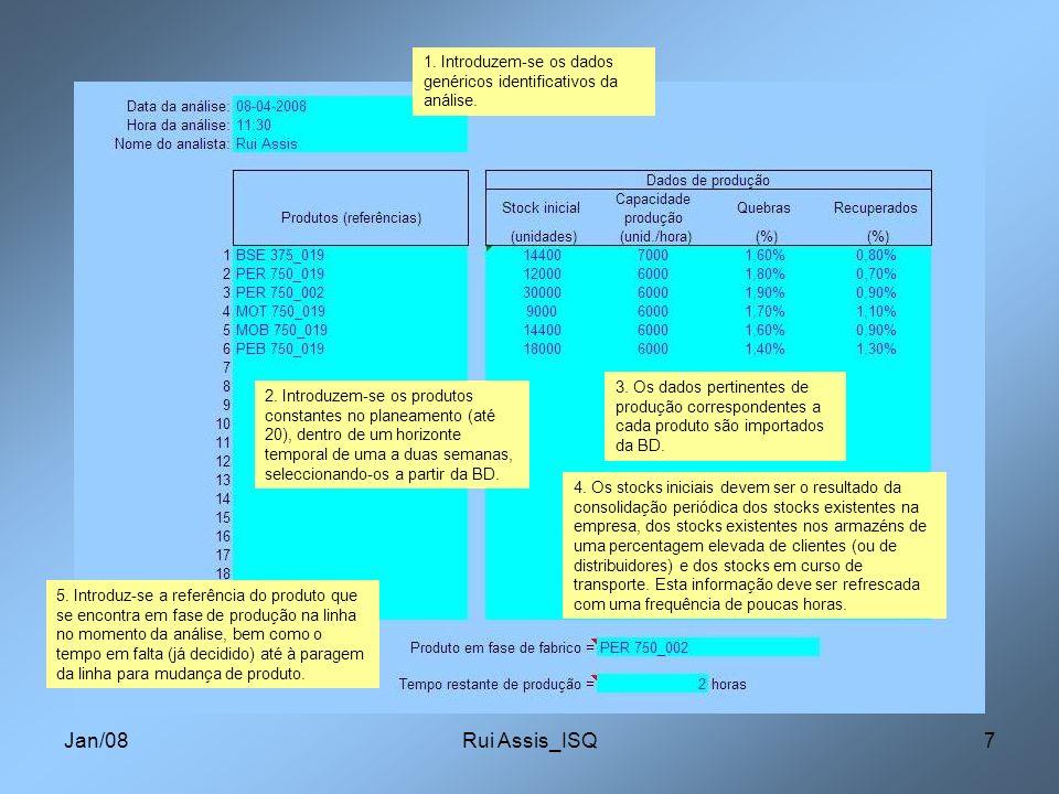 1. Introduzem-se os dados genéricos identificativos da análise.