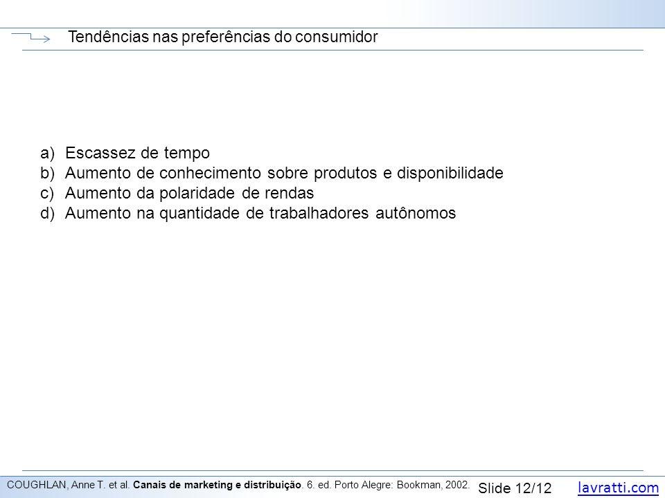 Tendências nas preferências do consumidor