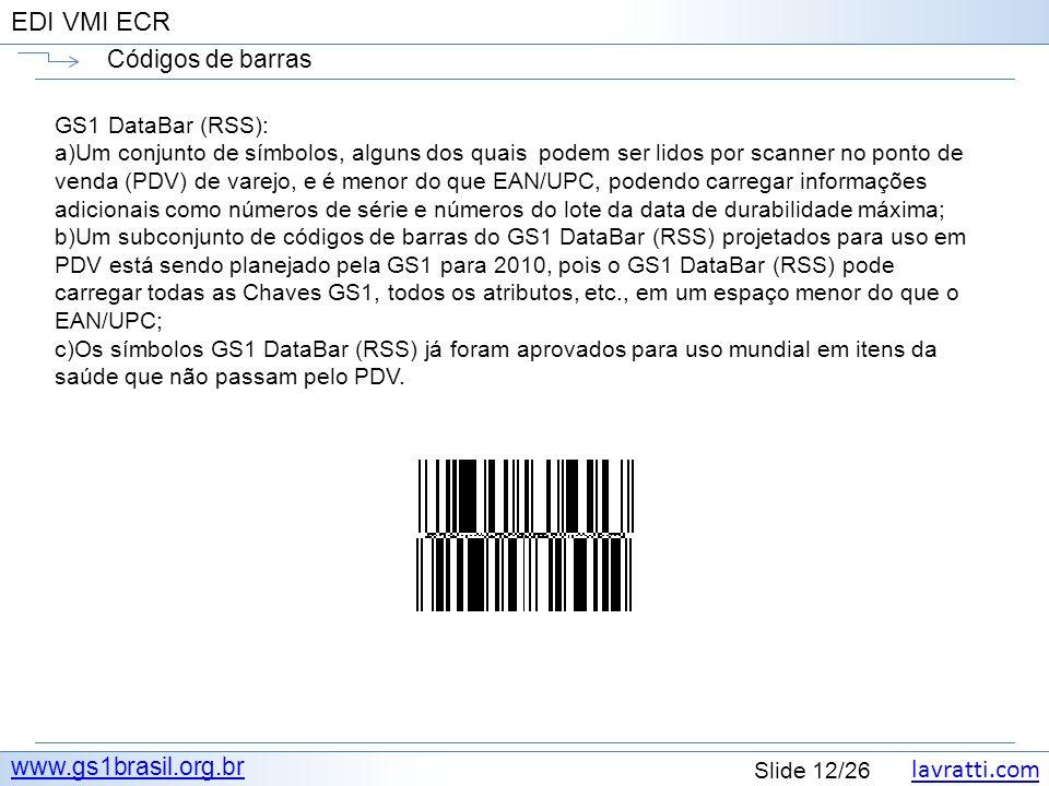 Códigos de barras www.gs1brasil.org.br GS1 DataBar (RSS):