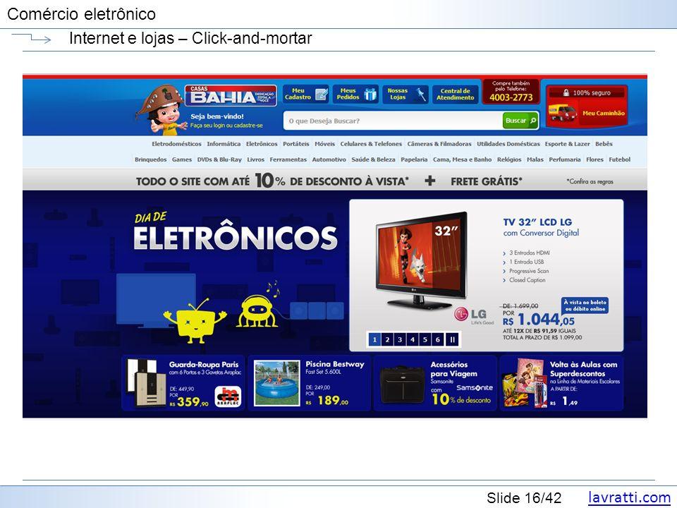 Internet e lojas – Click-and-mortar