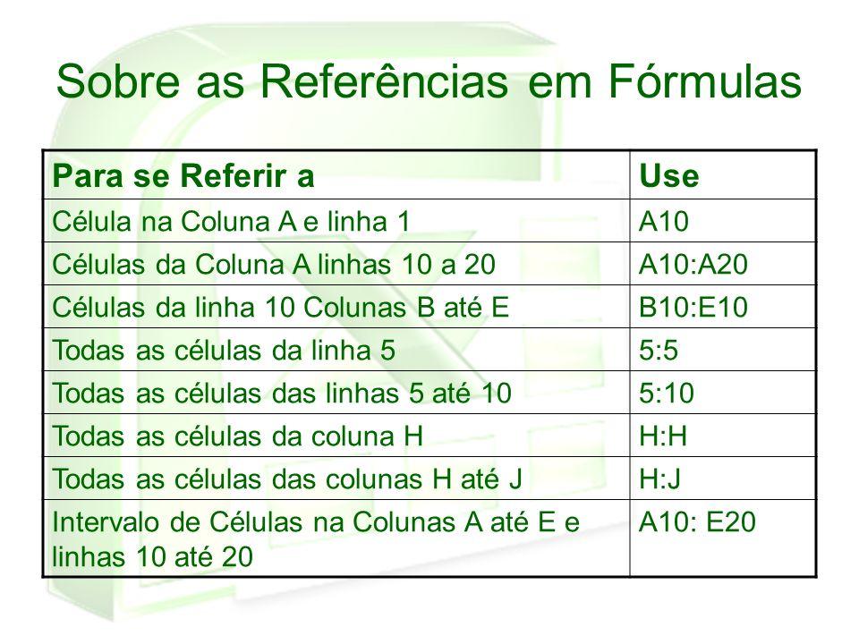 Sobre as Referências em Fórmulas