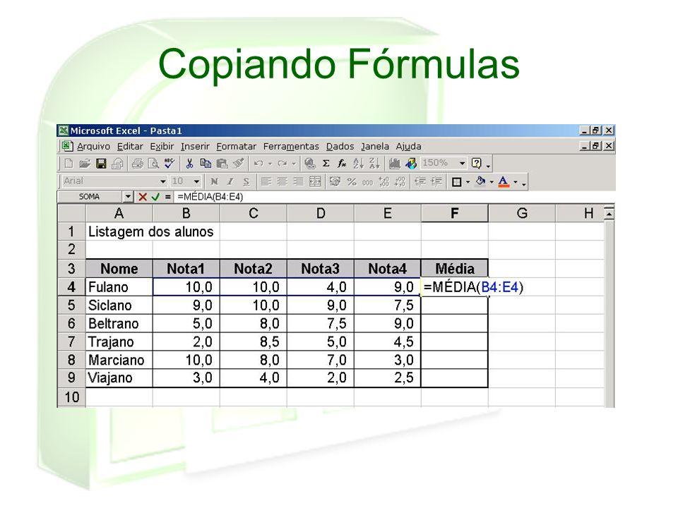 Copiando Fórmulas