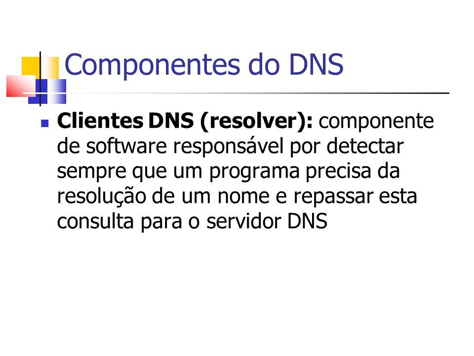 Componentes do DNS