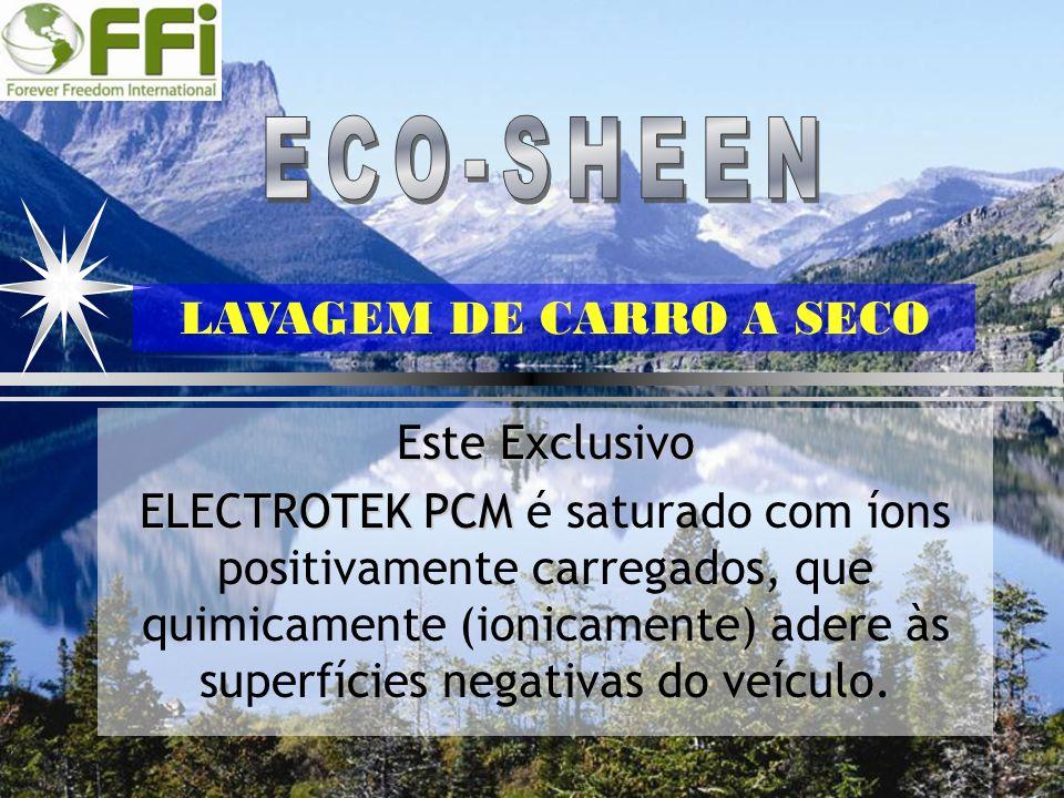 ECO-SHEEN LAVAGEM DE CARRO A SECO Este Exclusivo