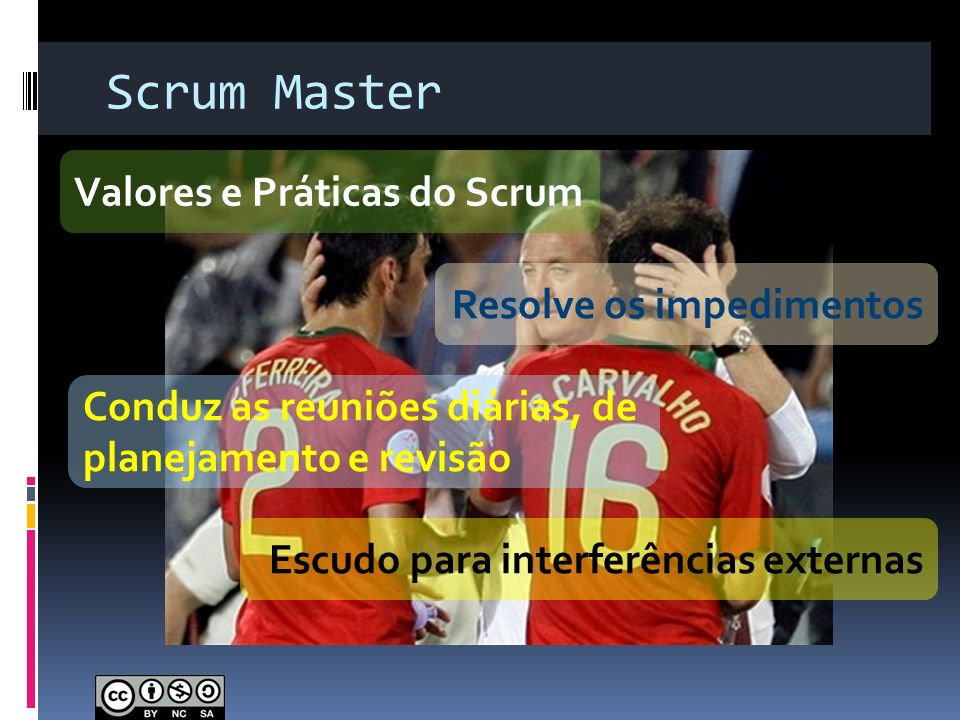 Scrum Master Valores e Práticas do Scrum Resolve os impedimentos