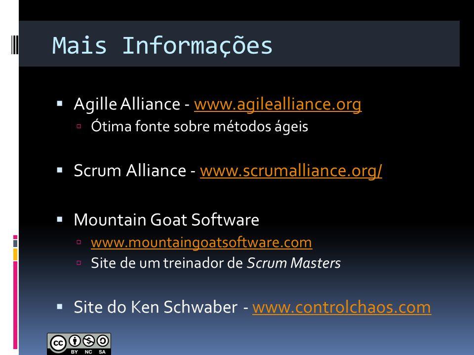 Mais Informações Agille Alliance - www.agilealliance.org