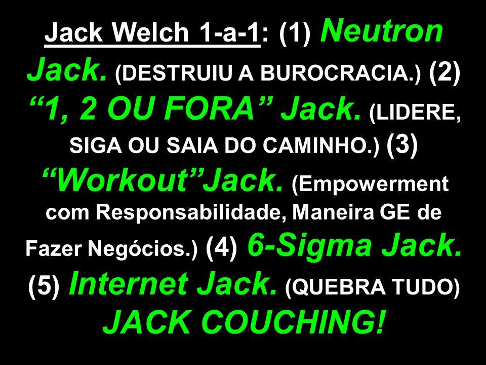 Jack Welch 1-a-1: (1) Neutron Jack. (DESTRUIU A BUROCRACIA